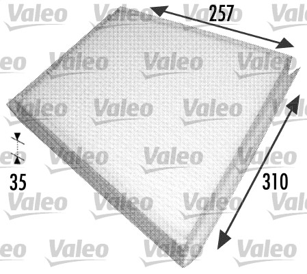 Filtre, air de l'habitacle - VALEO - 698702