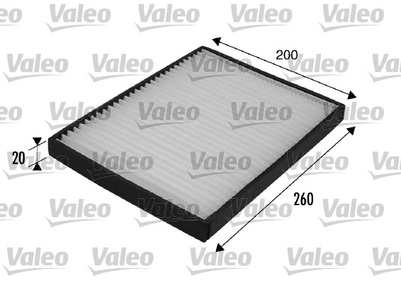 Filtre, air de l'habitacle - VALEO - 698707