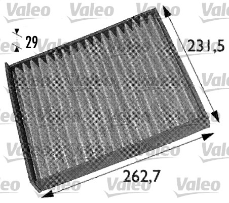 Filtre, air de l'habitacle - VALEO - 698708