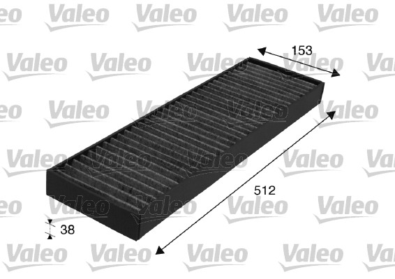 Filtre, air de l'habitacle - VALEO - 698713