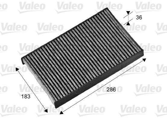 Filtre, air de l'habitacle - VALEO - 698714