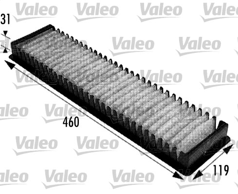 Filtre, air de l'habitacle - VALEO - 698725