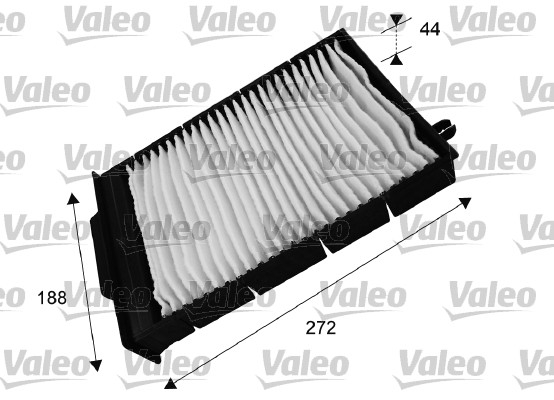 Filtre, air de l'habitacle - VALEO - 698730