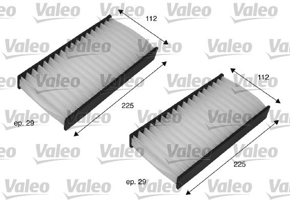 Filtre, air de l'habitacle - VALEO - 698735