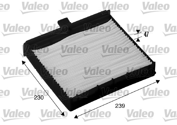 Filtre, air de l'habitacle - VALEO - 698736