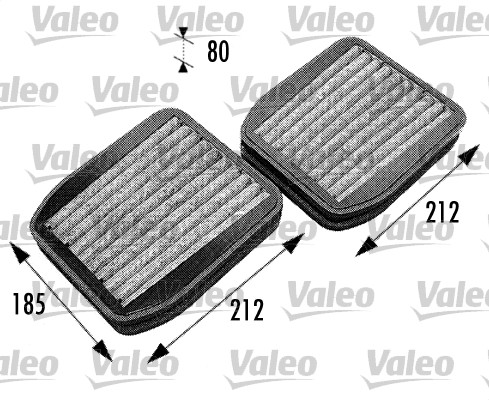 Filtre, air de l'habitacle - VALEO - 698740