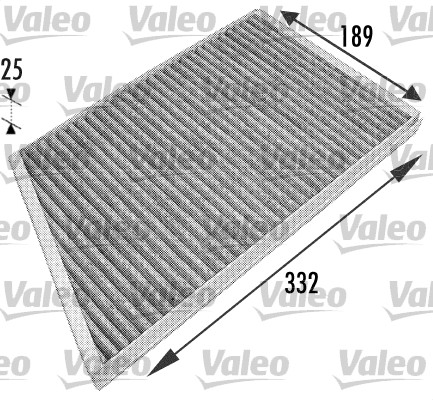 Filtre, air de l'habitacle - VALEO - 698743