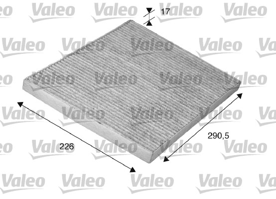 Filtre, air de l'habitacle - VALEO - 698746