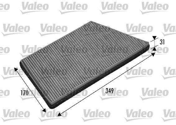 Filtre, air de l'habitacle - VALEO - 698749