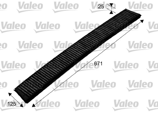 Filtre, air de l'habitacle - VALEO - 698750
