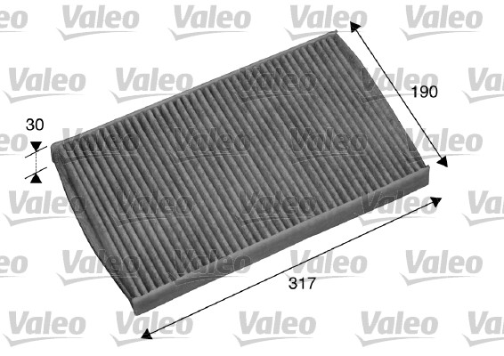 Filtre, air de l'habitacle - VALEO - 698751