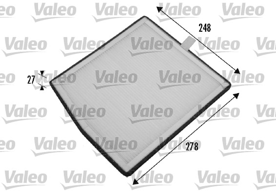 Filtre, air de l'habitacle - VALEO - 698771