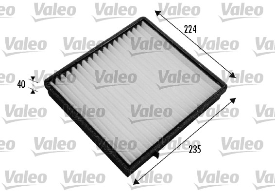 Filtre, air de l'habitacle - VALEO - 698777