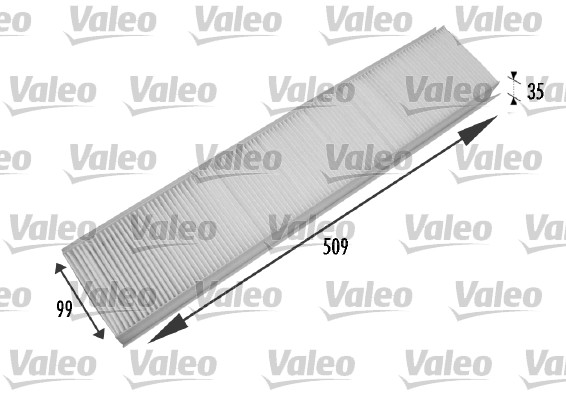 Filtre, air de l'habitacle - VALEO - 698779