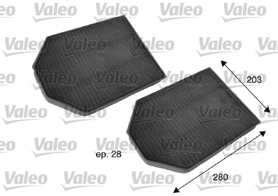 Filtre, air de l'habitacle - VALEO - 698791