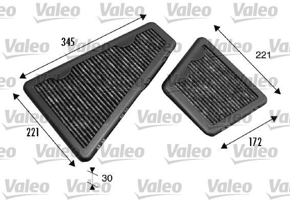 Filtre, air de l'habitacle - VALEO - 698793