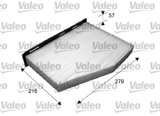 Filtre, air de l'habitacle - VALEO - 698800