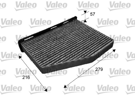 Filtre, air de l'habitacle - VALEO - 698801