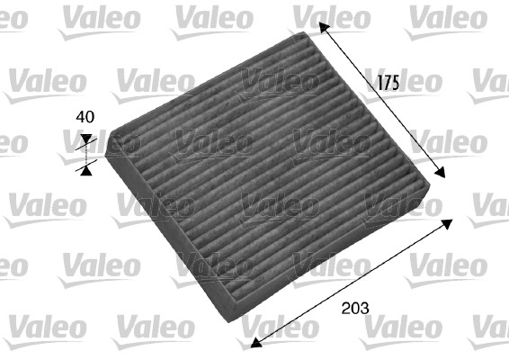 Filtre, air de l'habitacle - VALEO - 698802