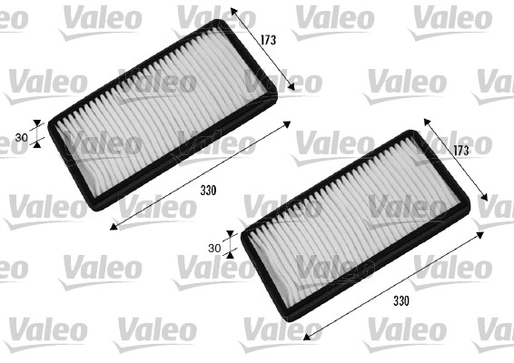 Filtre, air de l'habitacle - VALEO - 698856