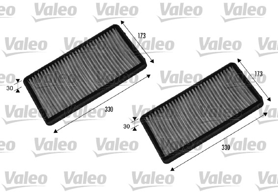 Filtre, air de l'habitacle - VALEO - 698857
