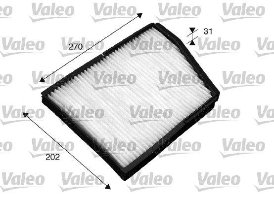 Filtre, air de l'habitacle - VALEO - 698859