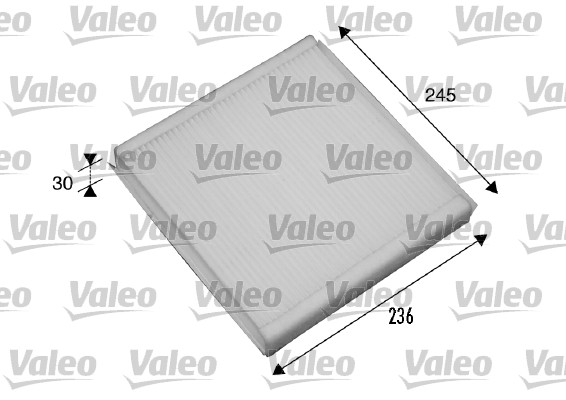 Filtre, air de l'habitacle - VALEO - 698861