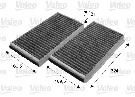 Filtre, air de l'habitacle - VALEO - 698864