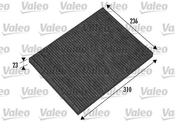 Filtre, air de l'habitacle - VALEO - 698865