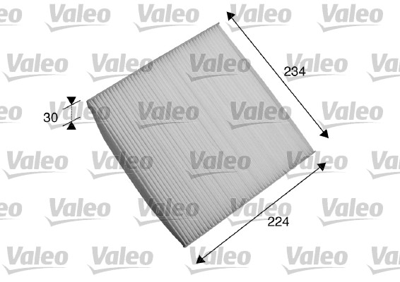 Filtre, air de l'habitacle - VALEO - 698868