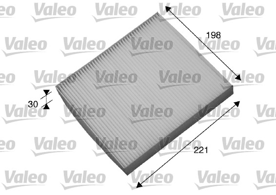 Filtre, air de l'habitacle - VALEO - 698869