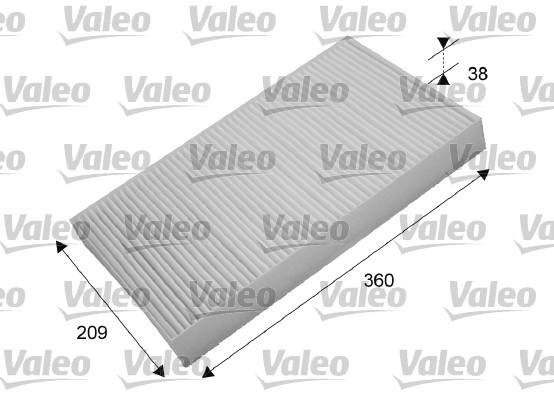 Filtre, air de l'habitacle - VALEO - 698871