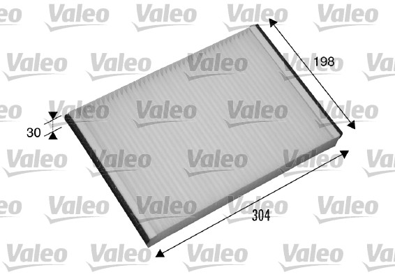 Filtre, air de l'habitacle - VALEO - 698874
