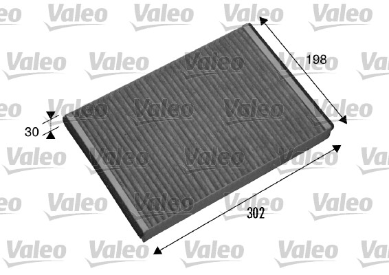 Filtre, air de l'habitacle - VALEO - 698875