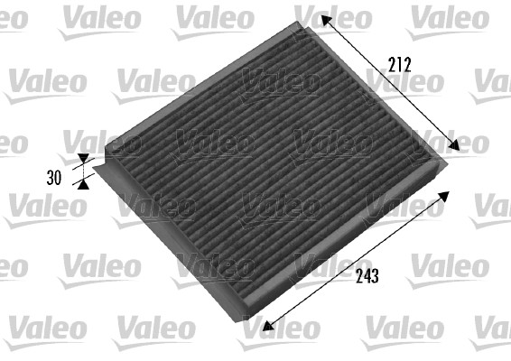 Filtre, air de l'habitacle - VALEO - 698877