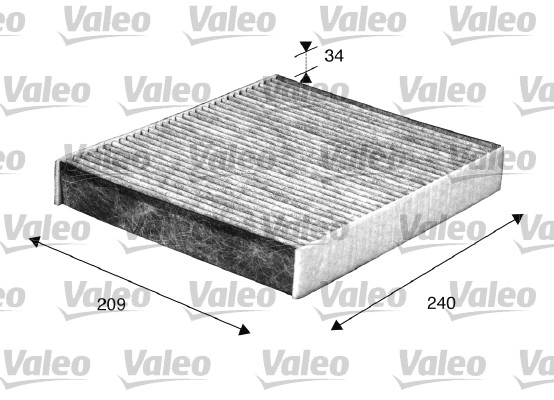 Filtre, air de l'habitacle - VALEO - 698883
