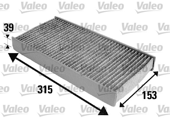 Filtre, air de l'habitacle - VALEO - 698884