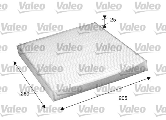 Filtre, air de l'habitacle - VALEO - 698885