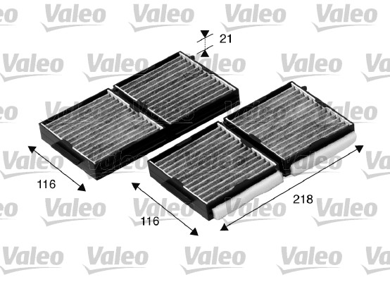 Filtre, air de l'habitacle - VALEO - 698890