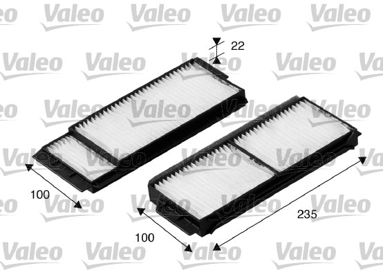 Filtre, air de l'habitacle - VALEO - 698892