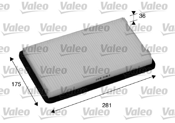 Filtre, air de l'habitacle - VALEO - 698893