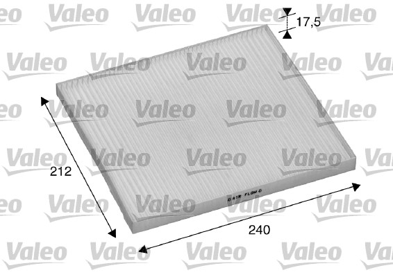 Filtre, air de l'habitacle - VALEO - 698895