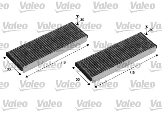 Filtre, air de l'habitacle - VALEO - 715501