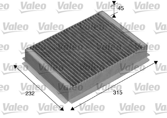 Filtre, air de l'habitacle - VALEO - 715505