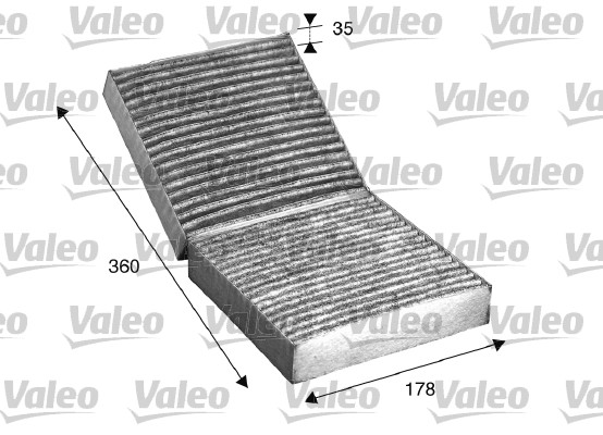 Filtre, air de l'habitacle - VALEO - 715508