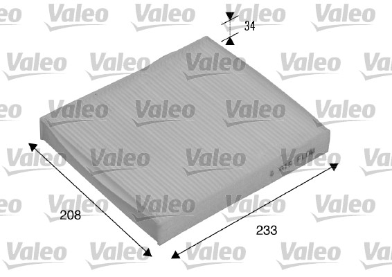 Filtre, air de l'habitacle - VALEO - 715510