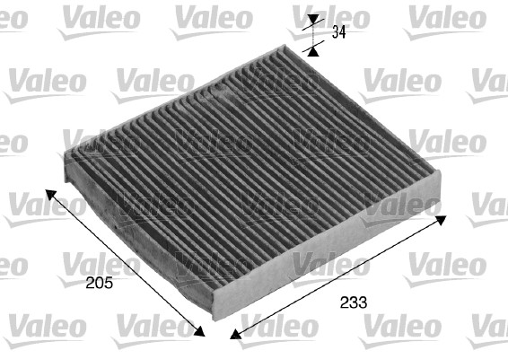 Filtre, air de l'habitacle - VALEO - 715511
