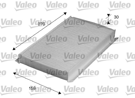 Filtre, air de l'habitacle - VALEO - 715518