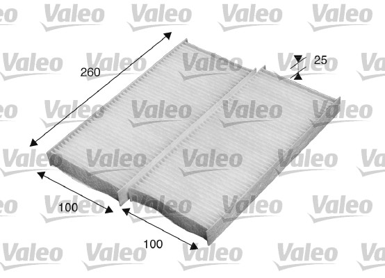 Filtre, air de l'habitacle - VALEO - 715520