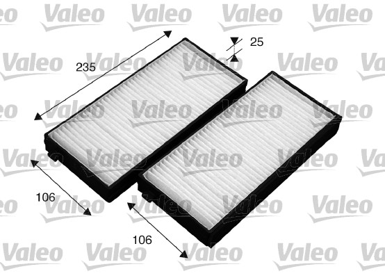 Filtre, air de l'habitacle - VALEO - 715523